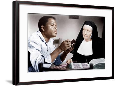 LILIES OF THE FIELD, from left: Sidney Poitier, Lilia Skala, 1963--Framed Art Print
