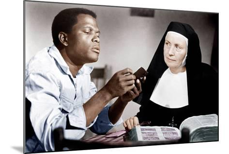 LILIES OF THE FIELD, from left: Sidney Poitier, Lilia Skala, 1963--Mounted Photo