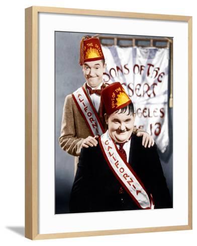 SONS OF THE DESERT, from left: Stan Laurel, Oliver Hardy, (aka Laurel & Hardy), 1933--Framed Art Print