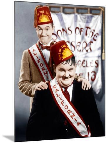 SONS OF THE DESERT, from left: Stan Laurel, Oliver Hardy, (aka Laurel & Hardy), 1933--Mounted Photo