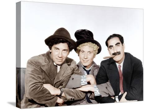 A Night at the Opera, Chico Marx, Harpo Marx, Groucho Marx, 1935--Stretched Canvas Print