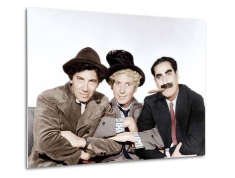 A Night at the Opera, Chico Marx, Harpo Marx, Groucho Marx, 1935--Metal Print