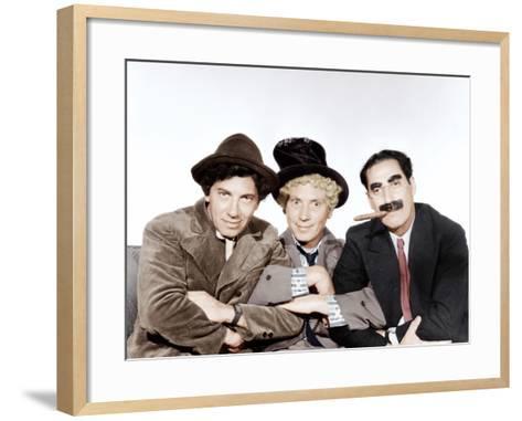 A Night at the Opera, Chico Marx, Harpo Marx, Groucho Marx, 1935--Framed Art Print