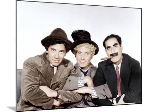 A Night at the Opera, Chico Marx, Harpo Marx, Groucho Marx, 1935--Mounted Photo