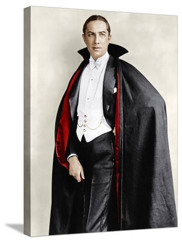 Bela Lugosi dressed in costume for his role in the Broadway play, 'Dracula,' 1927-1928--Stretched Canvas Print