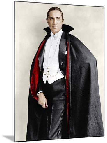 Bela Lugosi dressed in costume for his role in the Broadway play, 'Dracula,' 1927-1928--Mounted Photo