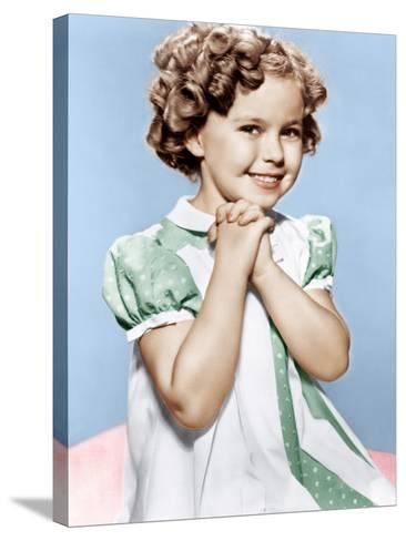 Shirley Temple, ca. 1936--Stretched Canvas Print