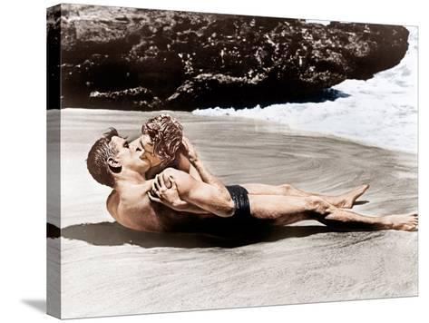 From Here to Eternity, Burt Lancaster, Deborah Kerr, 1953--Stretched Canvas Print