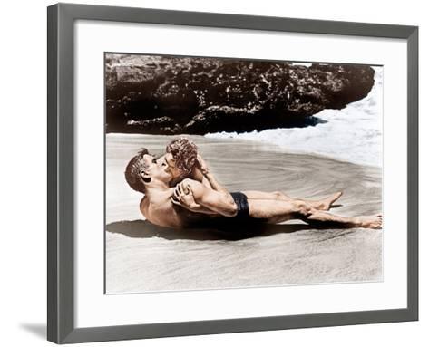 From Here to Eternity, Burt Lancaster, Deborah Kerr, 1953--Framed Art Print
