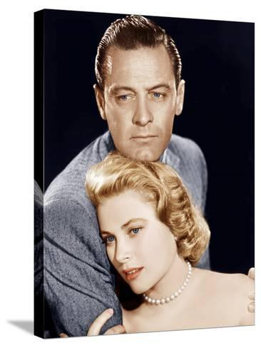 THE COUNTRY GIRL, from left: William Holden, Grace Kelly, 1954--Stretched Canvas Print