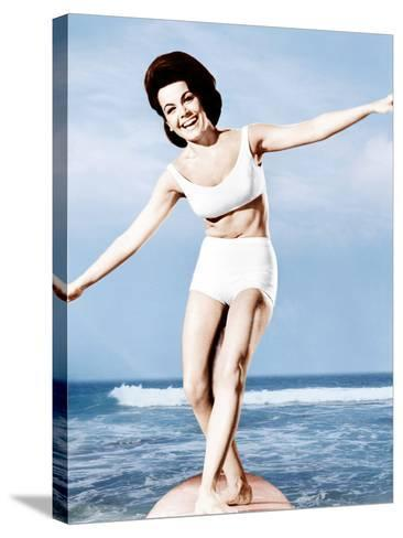 Beach Party, Annette Funicello, 1963--Stretched Canvas Print