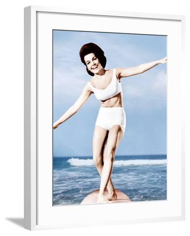 Beach Party, Annette Funicello, 1963--Framed Art Print