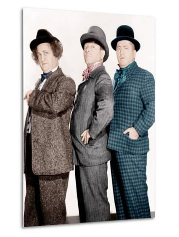 PHONY EXPRESS, from left: Larry Fine, Moe Howard, Curly Howard, (aka The Three Stooges), 1943--Metal Print
