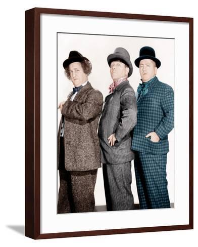 PHONY EXPRESS, from left: Larry Fine, Moe Howard, Curly Howard, (aka The Three Stooges), 1943--Framed Art Print