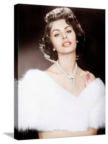 THE PRIDE AND THE PASSION, Sophia Loren, 1957--Stretched Canvas Print