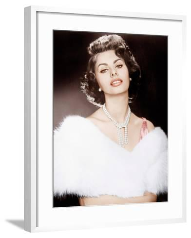 THE PRIDE AND THE PASSION, Sophia Loren, 1957--Framed Art Print