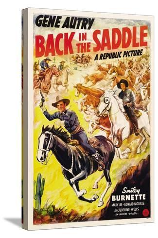 BACK IN THE SADDLE, from left: Gene Autry, Smiley Burnette, 1941.--Stretched Canvas Print