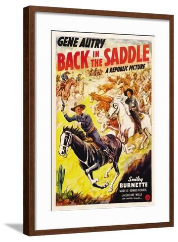 BACK IN THE SADDLE, from left: Gene Autry, Smiley Burnette, 1941.--Framed Art Print