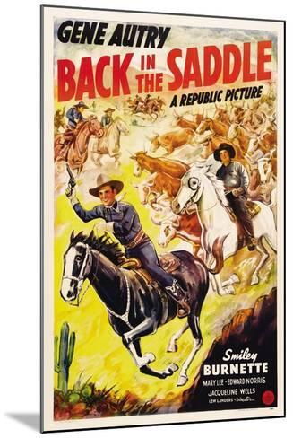 BACK IN THE SADDLE, from left: Gene Autry, Smiley Burnette, 1941.--Mounted Art Print
