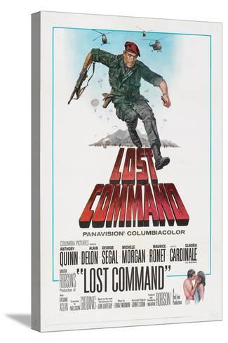 LOST COMMAND, US poster, Anthony Quinn, 1966--Stretched Canvas Print
