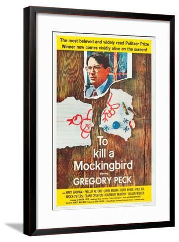 To Kill a Mockingbird, Gregory Peck, 1962--Framed Art Print