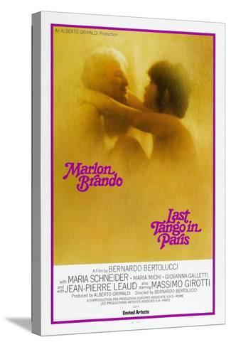 Last Tango in Paris, Marlon Brando, Maria Schneider, US poster, 1972--Stretched Canvas Print