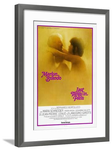 Last Tango in Paris, Marlon Brando, Maria Schneider, US poster, 1972--Framed Art Print