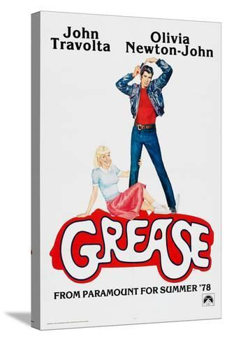 Grease, John Travolta, Olivia Newton-John, 1978, ? Paramount Pictures/courtesy Everett Collection--Stretched Canvas Print