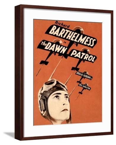 THE DAWN PATROL, Richard Barthelmess on poster art, 1930--Framed Art Print