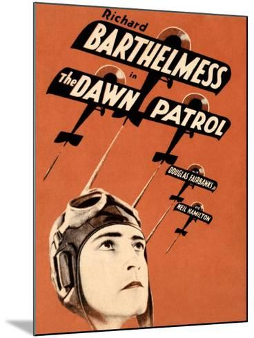 THE DAWN PATROL, Richard Barthelmess on poster art, 1930--Mounted Art Print