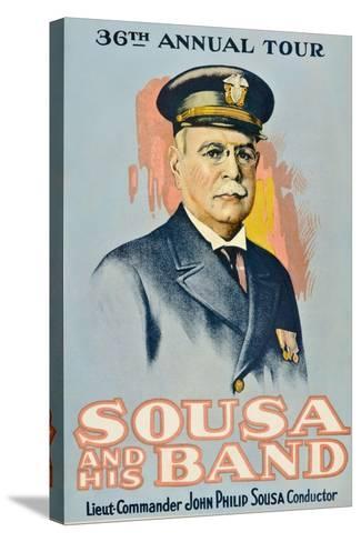 SOUSA AND HIS BAND, John Philip Sousa, 1901.--Stretched Canvas Print