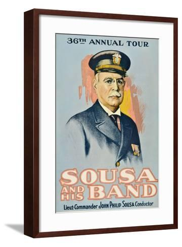 SOUSA AND HIS BAND, John Philip Sousa, 1901.--Framed Art Print