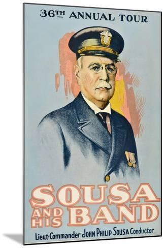 SOUSA AND HIS BAND, John Philip Sousa, 1901.--Mounted Art Print