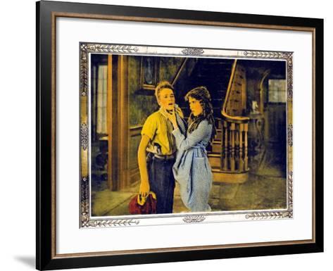POLLYANNA, l-r: Howard Ralston, Mary Pickford on lobbycard, 1920.--Framed Art Print
