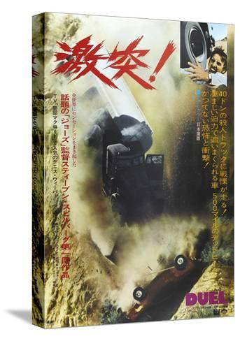 Duel, Japanese poster, Dennis Weaver, 1971--Stretched Canvas Print