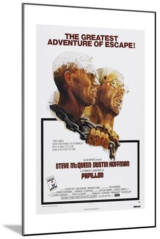 Papillion, US poster, Steve McQueen, Dustin Hoffman, 1973--Mounted Art Print
