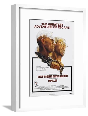Papillion, US poster, Steve McQueen, Dustin Hoffman, 1973--Framed Art Print