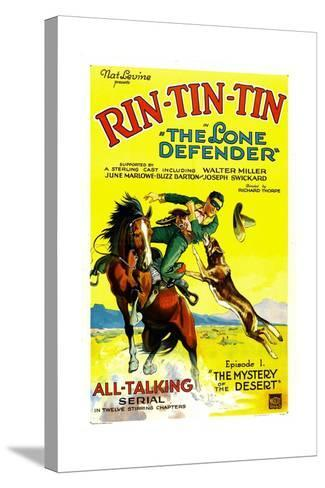 THE LONE DEFENDER, right: Rin-Tin-Tin in 'Chapter 1: The Mystery of the Desert', 1930--Stretched Canvas Print
