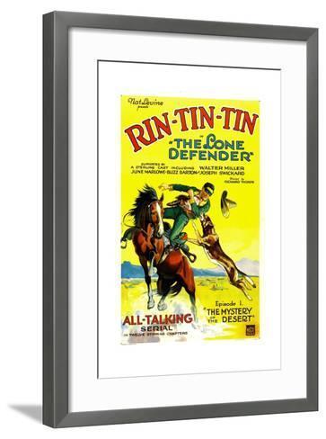 THE LONE DEFENDER, right: Rin-Tin-Tin in 'Chapter 1: The Mystery of the Desert', 1930--Framed Art Print