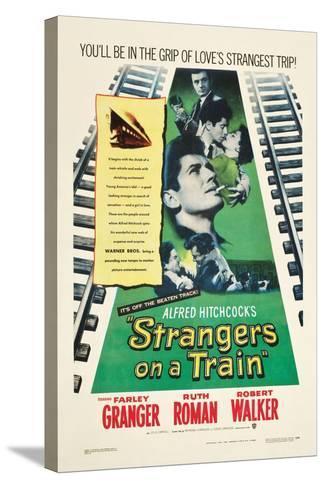 STRANGERS ON A TRAIN, Farley Granger, Robert Walker, Ruth Roman, 1951--Stretched Canvas Print