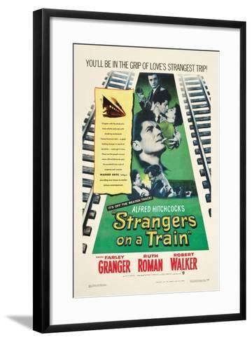 STRANGERS ON A TRAIN, Farley Granger, Robert Walker, Ruth Roman, 1951--Framed Art Print