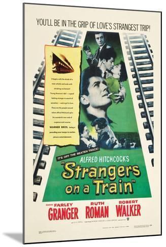 STRANGERS ON A TRAIN, Farley Granger, Robert Walker, Ruth Roman, 1951--Mounted Art Print