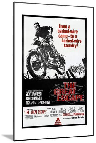 The Great Escape, Steve McQueen, 1963--Mounted Art Print