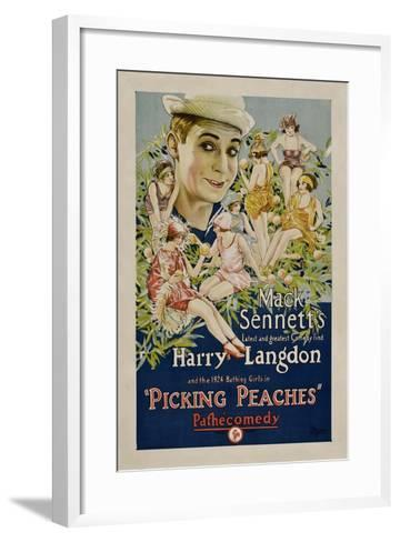 PICKING PEACHES, Harry Langdon with the 1924 Bathing Girls, 1924.--Framed Art Print
