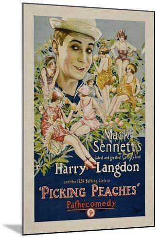 PICKING PEACHES, Harry Langdon with the 1924 Bathing Girls, 1924.--Mounted Art Print
