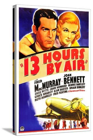 THIRTEEN HOURS BY AIR (aka 13 HOURS BY AIR)--Stretched Canvas Print