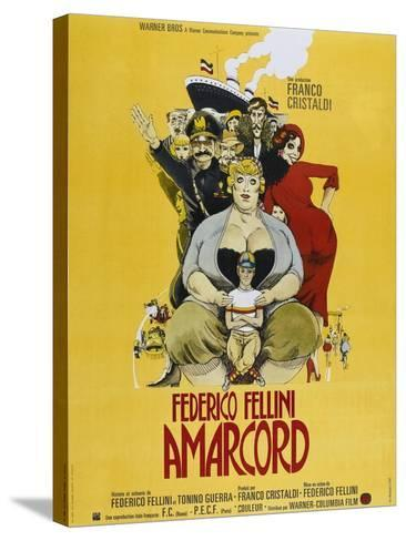 Amarcord, French poster, 1973--Stretched Canvas Print