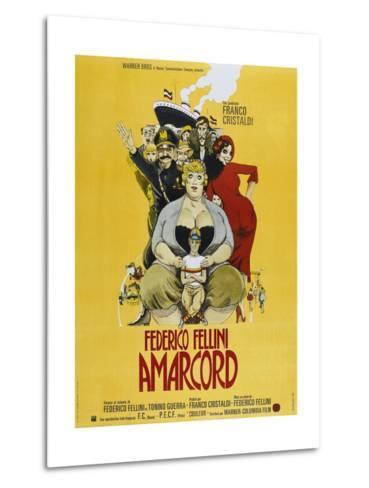 Amarcord, French poster, 1973--Metal Print