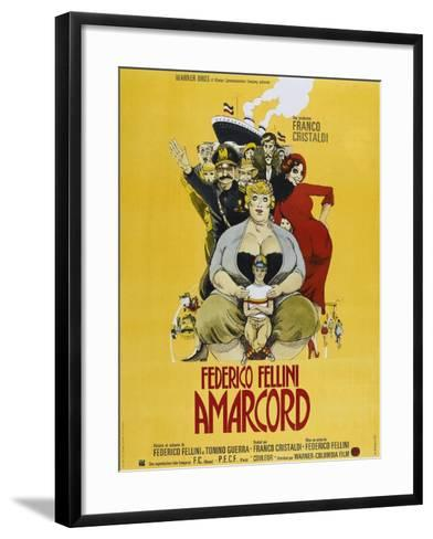 Amarcord, French poster, 1973--Framed Art Print