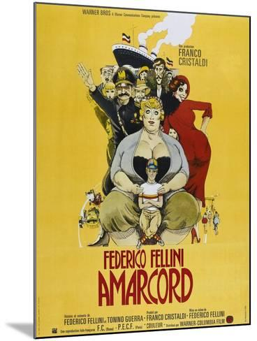 Amarcord, French poster, 1973--Mounted Art Print